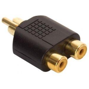 Adaptador elite de plug RCA a 2 jacks RCA