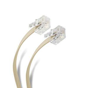 Cable plug a plug RJ11 de 4.5m, para extensión telefónica