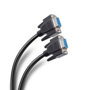 Cable jack a jack DB9 RS232 Null Modem, de 3 m