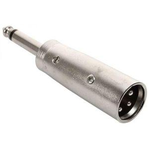 Adaptador de plug 6,3 mm a plug Cannon, monoaural