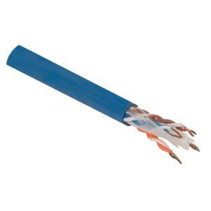 Cable UTP Categoría 5e, para redes, en presentación de color azul
