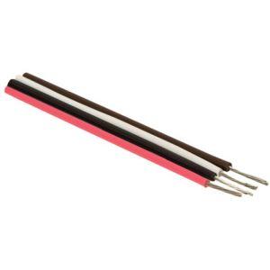 Cable estañado para conexiones, en color negro, calibre 22 AWG