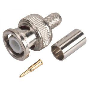 Conector macho tipo BNC de apretar, para cable RG59