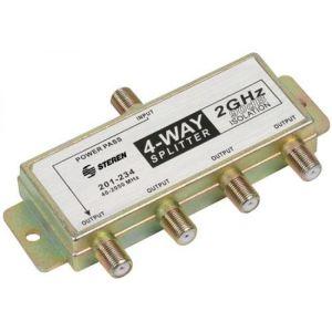 Divisor de 4 salidas, de 75 Ohms, 2 GHz, 90 dB