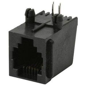 Jack RJ11 de 4 contactos para circuito impreso