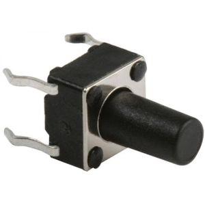 Micro switch, de push, con 4 terminales y vástago largo