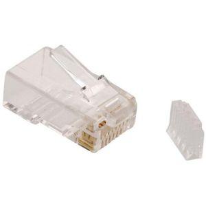 Plug RJ45 de 8 contactos CAT 6, para cable redondo.