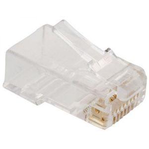 Plug RJ45 de 8 contactos CAT 5e, para cable plano