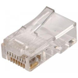 Plug telefónico modular RJ45 de 8 contactos para cable redondo