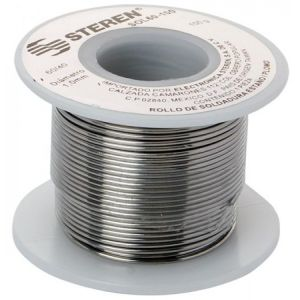 Rollo de 100 gramos de soldadura con aleación estaño/plomo (60/40)