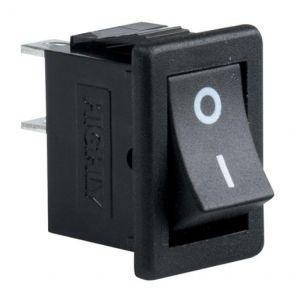 Switch miniatura, de balancín, de 1 polo, 1 tiro, 2 posiciones
