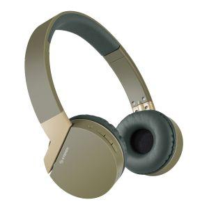 Audífonos Bluetooth* con batería de hasta 12 h y reproductor MP3