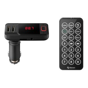 Transmisor FM Bluetooth* con cargador USB y reproductor MP3