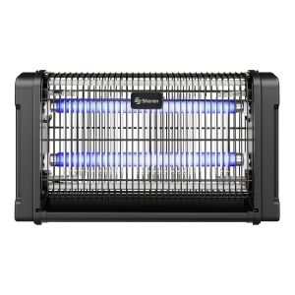 Exterminador electrónico de insectos voladores con doble lámpara