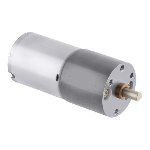 Motor reductor metálico con eje tipo D, 12 Vcc