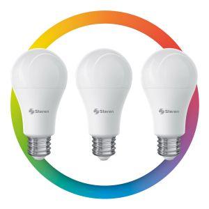 3 focos LED Wi-Fi* multicolor, de 10 W