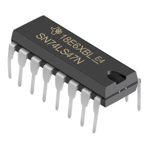 Circuito integrado TTL decodificador-excitador de decimal codificado en binario (BCD) a 7 segmentos